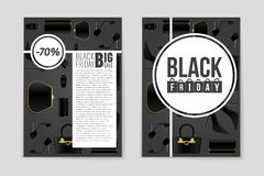 Abstract vector Black Friday layout background. For creative art design, list, page, mockup theme style, banner, concept Stock Photography