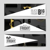 Abstract vector Black Friday layout background. For creative art design, list, page, mockup theme style, banner, concept. Abstract vector 2016 Black Friday Stock Photos