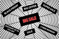 Abstract vector - black friday sale - background Stock Images