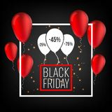 Abstract vector black friday sale layout background. For art template design, list, page, mockup brochure style, banner Royalty Free Stock Photography