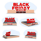 Abstract vector 2016 Black Friday store. For creative art design, list, page, mockup theme style, banner, concept idea Stock Image