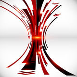 Abstract vector black and red perspective techno Royalty Free Stock Images