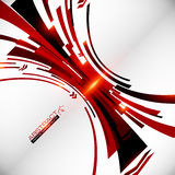 Abstract vector black and red perspective techno Stock Photo
