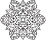 Abstract vector black round lace design - mandala, ethnic decora Royalty Free Stock Photos