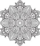 Abstract vector black round lace design - mandala, ethnic decora Stock Photo