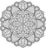 Abstract vector black round lace design - mandala, ethnic decora Stock Photography