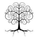 Abstract Vector Black Tree Illustration Stock Photo