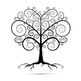 Abstract Vector Black Tree Illustration Stock Image