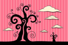 Abstract Vector Black Trees Illustration Stock Photography