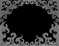 Abstract vector black and white decorative frame with curling figured shapes. Abstract vector black and white frame with curling figured shapes. Decorative Royalty Free Stock Image