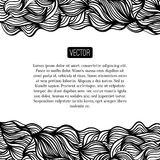Abstract vector black and white design with waves Royalty Free Stock Photography