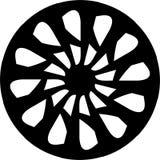 Abstract Vector Black and white Mandala geometric, alloy rim design. Vector Monochrome, geometric, alloy wheel design with a modern concept , web background vector illustration