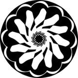 Abstract Vector Black and white Mandala ornament, cloud center circular finger, illustration vector illustration