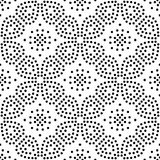 Abstract vector black and white repeated patterns of polka dots. Many uses for paintings,printing,mobile backgrounds, book,covers,screen savers, web page,logo Stock Image