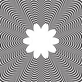 Abstract vector black and white striped background. Optical illusion Royalty Free Stock Photos