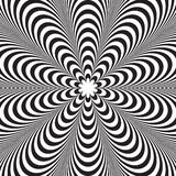 Abstract vector black and white striped background. Optical illusion Stock Photos