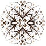 Abstract vector bloemenontwerp royalty-vrije illustratie