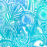 Abstract vector blue background with watercolor Stock Photography
