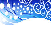 Abstract vector blue christmas background Stock Photo
