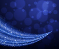 Abstract vector blue dust glitter star wave background Stock Image