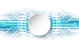 Abstract vector blue technology concept. background illustration Stock Photo