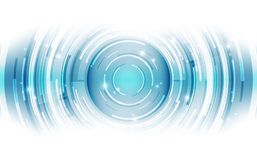 Abstract vector blue technology concept. background illustration. Innovation Royalty Free Stock Photography
