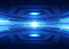 Abstract vector blue technology concept. background illustration. Innovation background for website Stock Photography