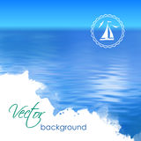 Abstract Vector Blue Water Background Stock Image