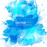 Abstract vector blue watercolor background Royalty Free Stock Photo