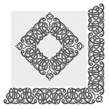 Abstract vector border. Abstract ornamental border, vector illustration royalty free illustration
