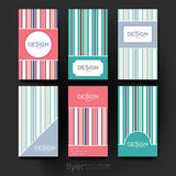 Abstract vector brochure template. Flyer Layout Stock Photo