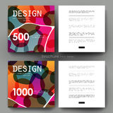 Abstract vector brochure template. Flyer Layout Royalty Free Stock Photo