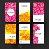 Abstract vector brochure template. Flyer Layout Royalty Free Stock Image