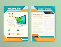 Abstract Vector Brochure Template. Stock Photos