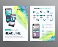 Abstract  Vector Brochure Template. Flyer Layout Stock Photography