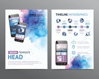 Abstract  Vector Brochure Template. Flyer Layout Royalty Free Stock Photography