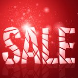 Abstract vector business background. Red background. Presentation background. New Year. Christmas background. Glowing background Royalty Free Stock Photos