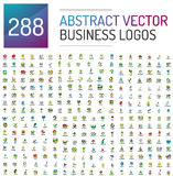 Abstract vector business logo mega collection. Universal set Stock Photography