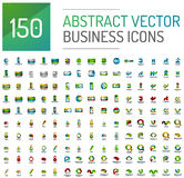 Abstract vector business logo mega collection. Universal set Stock Image