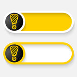 Abstract vector button stock illustration