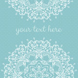 Abstract vector card with ornamental round mandala Stock Images