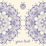 Abstract vector card with ornamental round mandala Royalty Free Stock Photo