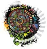 Abstract vector cartoon grunge design. Series of image Royalty Free Stock Photos