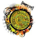 Abstract vector cartoon grunge design. Series of image Royalty Free Stock Images