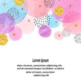 Abstract vector celebration background with watercolor circles. stock illustration