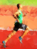 Abstract vector character runner Stock Photo