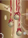 Abstract vector Christmas background. Illustrator 8 / EPS Stock Photo