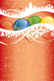 Abstract Vector Christmas Background. Vector Background with christmas tree and decoration for your design Stock Images