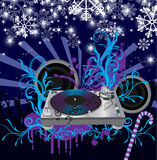 Abstract vector Christmas Concert poster.Music po. Abstract vector Christmas Concert poster. .Abstract holiday background Stock Image