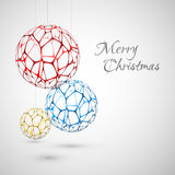 Abstract Vector christmas decorations. Christmas card Stock Illustration